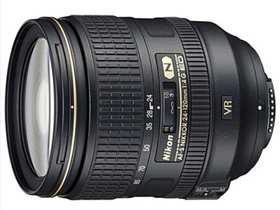 尼康/Nikon AF-S VR 24-120mm f/4G   卡口:尼康卡口品种:单反镜头画幅:全画幅类型:标准变焦