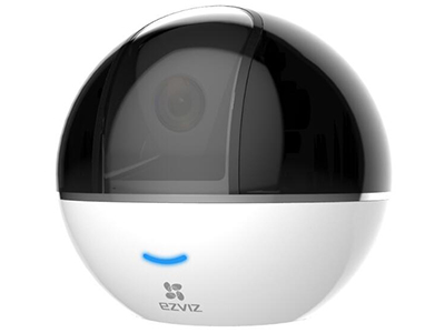 """螢石 C6T智能云臺網絡攝像機    200W像素1/3"""" CMOS互聯網云臺攝像機 攝像機 傳感器類型 1/3"""" Progressive Scan CMOS 快門 快門自適應 鏡頭 4mm@ F2.2, 對角視場角:95° 云臺角度 水平340°,垂直90° 鏡頭接口類型 M12 日夜轉換模式 ICR紅外濾片式 數字降噪 3D數字降噪 寬動態范圍 數字寬動態 壓縮標準 視頻壓縮標準 H.264 H.264編碼類型 Main Profile 視頻壓縮碼率 超高清、高清、均衡三檔,碼率自適應 音頻壓縮標準 AAC"""