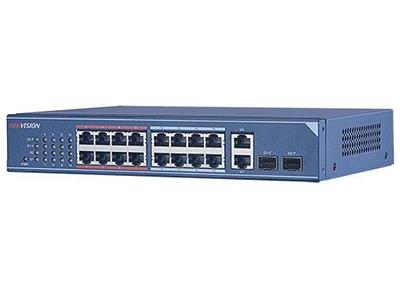 海康威視DS-3E0318-S非網管二層交換機    DS-3E0318-S是我公司自主研制的二層網絡交換機,提供16個百兆電口、2個千兆光電復用口。該交換機可靠性高、便于安裝維護,快速交換功能、多個接入端口,適用于小規模局域網設備互聯。 支持IEEE802.3、IEEE802.3u、IEEE802.3x 支持存儲轉發交換方式 支持視頻紅口保障技術 超過10萬小時的平均無故障時間 堅固式高強度金屬外殼 無風扇設計,可靠性高