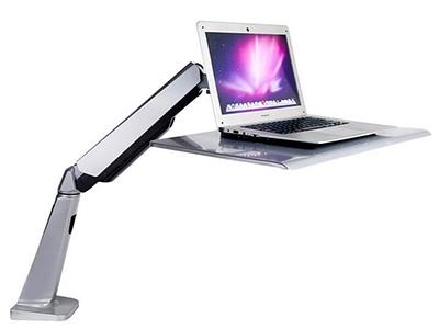 BK DWS02-LP笔记本站立办公家架 站立办公升降台式电脑桌 台式笔记本办公桌 便捷可移动