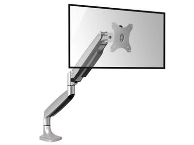 BK  LDT10-C012单屏气压支架 液晶电脑显示器支架 桌面万向旋转升降显示屏支架臂 单屏底座气压架全铝合金,气弹簧自由悬停,承重1-9kg,适用13-32英寸显示器,视距伸缩,高低升降