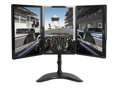 BK LDT07-T036机械三屏 钢制机械显示器3屏支架,双屏,适用13-27寸,桌面放置型