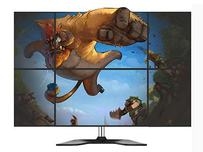 BK LDT02-T06六屏显示器支架 钢制机械显示器6屏支架,适用13-27寸,放置型