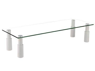 BK-STB-101显示器底座 高度80-130mm,铝合金+钢化玻璃,桌板尺寸580×210×130mm,称重20KG,适用13-32寸