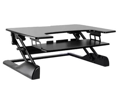 BK -DWS04-01黑色升降台 升降高度370mm,板厚15mm,桌板尺寸762×640mm,称重15KG,桌面调高130-500mm