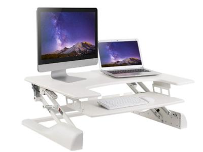 BK-DWS04-01白色升降台 升降高度370mm,板厚15mm,桌板尺寸762×640mm,称重15KG,桌面调高130-500mm