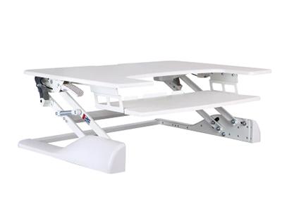 BK-DWS04-02白色升降台 升降高度370mm,板厚15mm,桌板尺寸762×640mm,称重15KG,桌面调高130-500mm
