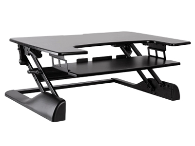 BK-DWS04-02升降台黑色 升降高度370mm,板厚15mm,桌板尺寸762×640mm,称重15KG,桌面调高130-500mm