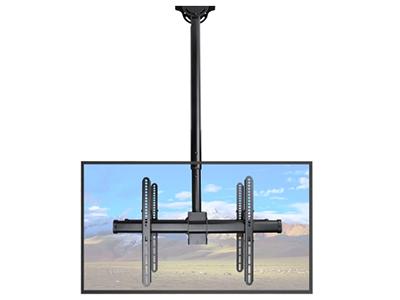 BK-PLB-CE946-01LD双面电视吊架 钢制,适用尺寸32-70寸,产品毛7.33KG,顶距1060-1560mm,称重90KG,上下倾斜25度,左右旋转180度