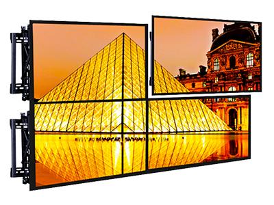BK LVW06-46T-4 钢制拼接架4个,材料厚度2.0mm,适用电视37-70寸,离墙距离95-285mm,展开尺寸670×524×285mm,最大孔距600×400mm,自由组合多屏