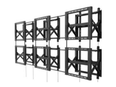 BK LVW06-46T-6 钢制拼接架6个,材料厚度2.0mm,适用电视37-70寸,离墙距离95-285mm,展开尺寸670×524×285mm,最大孔距600×400mm,自由组合多屏