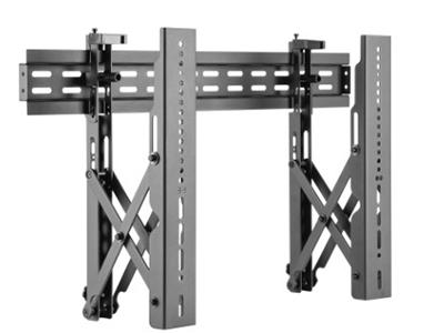 BK LVW02-46T大屏拼接架 钢制拼接架1个,材料厚度2.5mm,适用电视37-70寸,离墙距离60-202mm,展开尺寸760×465×202mm,最大孔距600×400mm,自由组合多屏