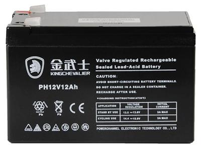 金武士电池PH-12AH 12V UPS电瓶免维护不加酸不加水12AH足容量电池