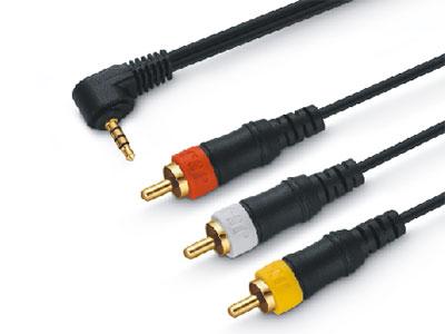 金山角  JSJ-369 3.5四极-3RCADVD电视音视频线 OD:3.0*3F 黑色PVC外皮 金山角 袋包装 1.5米
