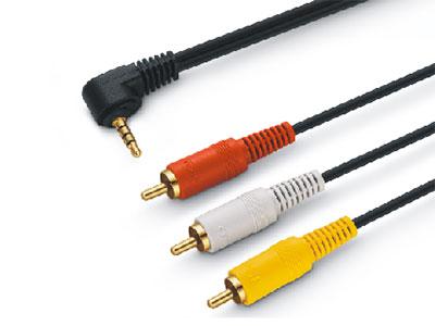 金山角  JSJ-368 3.5四级-3RCA音视频线  OD:3.0*3F 黑色PVC外皮 全铜线芯 镀金头 金山角 袋包装 1.5米 1.8米 3米