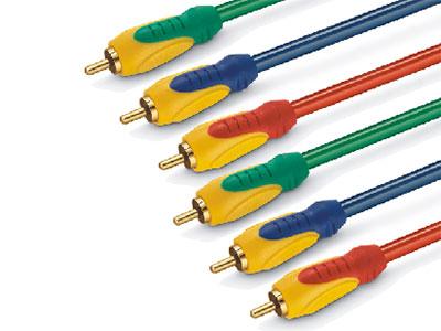 金山角  JB-SC31 高清R.G.B色差视频线 OD:6.0*3F 三色PVC外皮 镀金端子 高级3层双色工艺插头 金山角 袋包装 1.8米
