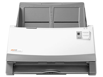 """精益SmartOffice PS406    """"USB2.0接口,扫描速度高达每分钟:40ppm/80ipm 100张大容量进纸器 40g超薄纸张轻松出入 可横放扫描带孔票据及报表 行业领先OCR应用程序,可直接输出 自动裁剪和纠偏"""""""