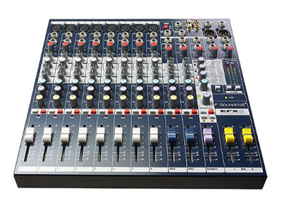 """聲藝 EFX 12  (E5351) 調音臺 """"12通道帶效果模擬調音臺,12個單聲道和2個立體聲輸入 內置萊斯康24比特效果器,配置GB30前置放大器 2路輔助輸出,48V幻象電源供電"""