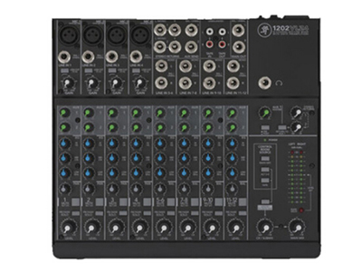美奇 1202-VLZ4 緊湊型調音臺 12通道緊湊式模擬調音臺,4個Onyx話筒前置放大器