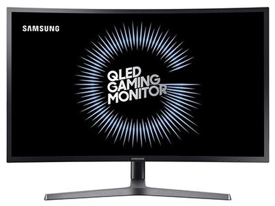 """三星C27HG70    """"产品类型:LED显示器,广视角显示器,曲面显示器 产品定位:电子竞技 屏幕尺寸:27英寸 面板类型:VA 最佳分辨率:2560x1440 可视角度:178/178° 视频接口:HDMI×2,Displayport"""""""