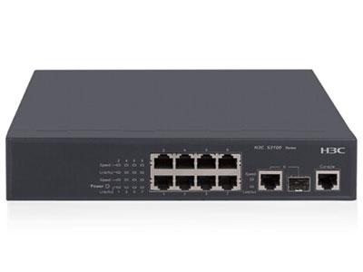 郑州聚豪 河南总代理 华三(H3C)  S3100V2-8TP-SI-H3 标准型百兆二层网管交换机8个10/100Base-T,1个10/100/1000Base-T与1000Base-X SFP COMBO,交流供电 客户热线:柴经理 13253534321