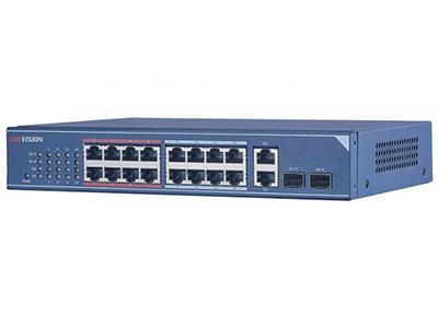 海康威視DS-3E0318-E    16個百兆網絡電口,2個千兆光電復用口