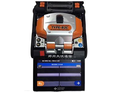 日本住友单芯光纤熔接机TYPE-82C/T82C 原装进口熔接机 5寸电容屏 重2.1kg,包括电池,高速熔接(5秒)高速加热(9秒)G.657光纤自动熔接功能,触摸屏操作250、900松紧套光纤用通用夹钳(专利申请中)可选型加热器操作(专利申请中)支持双向熔接操作,双面式涂层夹(专利申请中)配备快速上手用户培训视频,IP52等级、高度76cm 5面跌落,自动放电校正,任何环境下高速熔接,通过互联网升级软件,通过互联网进行远程互动维护