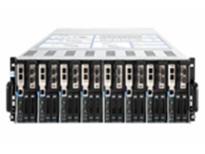 浪潮英信服務器I4008/NX5480M4  類型:4U高,每個I4008機箱支持8個NX5480M4節點 處理器:每節點支持2個英特爾? 至強? 處理器E5-2600v3/v4系列 內存:每節點16個內存插槽,最高支持DDR4-2400內存,最大可擴展1024GB內存(當使用單條容量64GB的內存時)支持高級內存糾錯、內存鏡像、內存熱備等高級功能 硬盤控制器:支持SAS3008子卡,不占用標準PCI-e插槽,支持raid 0,1,支持直通模式 硬盤數量:每節點最大支持2塊SATA/SAS/SSD 2.5寸硬盤 I/O擴展槽:每節點支持3個PCI-E 3.0 x8