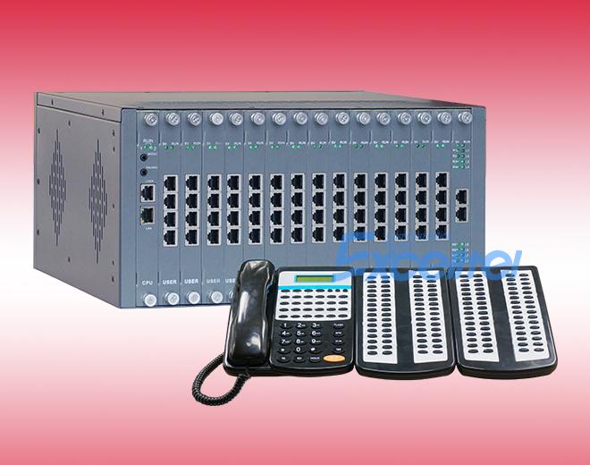 D240集團電話交換機,最大支持0+240或8+224