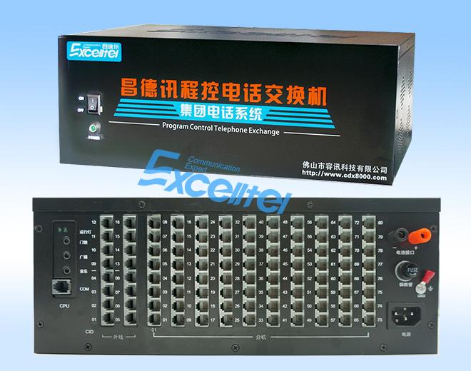 TP1680集團電話交換機,基本配置4+16,最大支持16+80