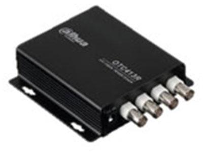 大華 DH-OTC413T  發射端,4路720P,25\\30幀CVI視頻,單纖雙向,20km,FC光口,不支持485及同軸復合