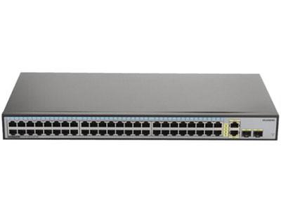 华为S1700-52R-2T2P-AC非网管交换机 (48个10/100Base-TX以太网端口,2个10/100/1000Base-T以太网端口,2个千兆SFP,交流供电)