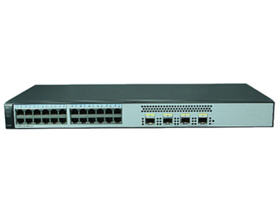 华为S1720-28GWR-4P 企业级网络接入层交换机 (24个10/100/1000Base-T以太网端口,4个千兆SFP,交流供电)
