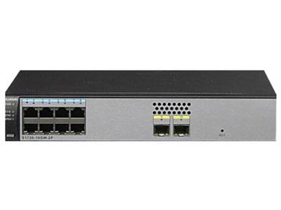 华为 S1720-10GW-2P-E 交换机 S1720-10GW-2P组合配置(8个10/100/1000Base-T以太网端口,2个千兆SFP,含license,交流供电)
