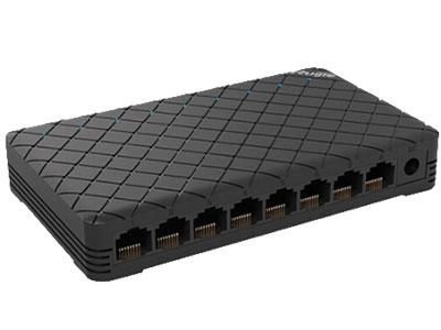 锐捷 RG-ES08 8口10/100M自适应百兆非管理型塑壳交换机
