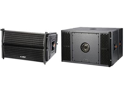 CAF LA-10/LA-151S-A 有源專業音響 頻響范圍(±3db) 55HZ-20KHZ  38HZ-150HZ  最大功率(Peak) 1200W  2400W