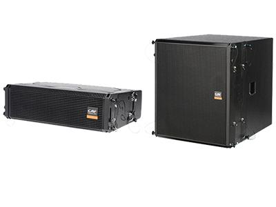 CAF TA-2410/TA-15C-A 有源專業音響 頻響范圍(±3db) 100Hz--20KHz  38Hz--300Hz  最大功率(Peak) LF 800W / HF 200W  LF 2000W