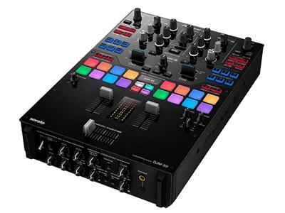日本先鋒DJM-S9 雙通道混音器 配置反轉開關和聲道漸變曲線調節功能 自定義表演打擊墊和效果按鍵 15個板載節拍效果