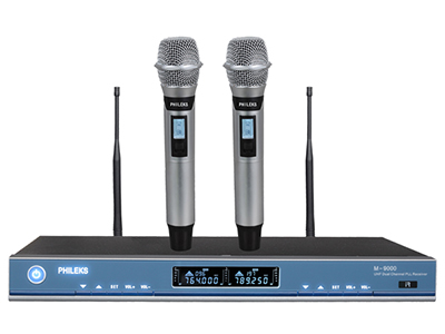 飛利克斯 M-9000 專業話筒 智能感應技術,話筒離開人手靜止后3秒內自動靜音,5分鐘后自動節能進入待機狀態,
