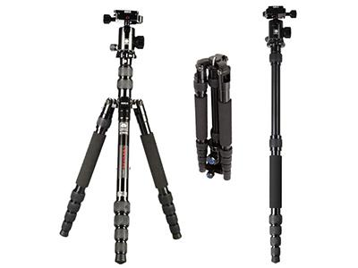 思锐 三脚架 E1005A+G12 含云台佳能尼康单反相机三角架铝合金 反折单反相机三脚架 便携旅行 节数:5节 产品材质:铝合金