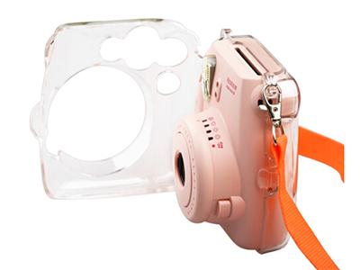 富士一次成像instaxmini8相机专用 透明水晶壳 保护壳 保护套 白色