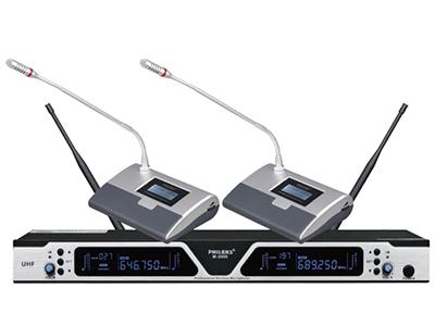 飛利克斯  M-3000 專業話筒  采用進口松下高保真電容咪芯,具有拾音距離遠 語音清晰,帶寬達到20Hz-20KHz 采用防干擾電路設計,可防止手機等電子產品的干擾 話筒頭部帶發言燈圈,可顯示發言,關閉狀態