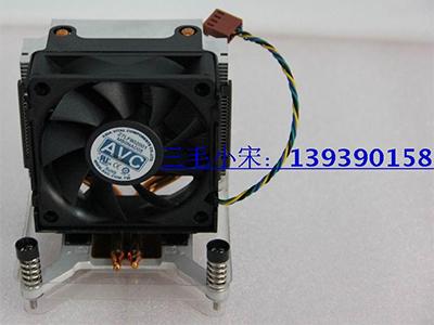 惠普电脑专用AVC铜管775针侧吹智能静音风扇 铜管风扇