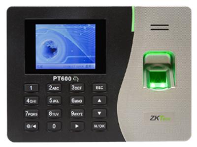 """指纹识别考勤机云智PT600彩屏 其采用2.8寸高清彩屏,简洁的结构设计,符合人体工程学原理,精巧而又不失大方,线条柔美、外观时尚。该产品采用了中控智慧最新研发的10.0指纹算法,能够精准、快速、高效地识别您的指纹。在设备上进行简单的网络设置后,用户可通过考勤软件中选择""""云智P2P""""通讯方式,快速实现异地联网功能;云智通讯不需要公网IP,采用ZKTime5.0软件即轻松实现对异地分支机构的的考勤管理,是连锁型、跨地域企业必备的管理工具。"""