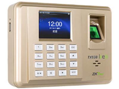 指纹识别考勤机TX638 采用2.8寸高清彩屏,带来绝佳的显示效果。采用了中控智慧研发的LiveID指纹采集技术,能够精准、快速、高效的识别您的指纹。该产品在通讯方面标配TCP/IP、WIFI通讯,使得您的网络连接随心所欲。同时TX638基于最新的ZMM200硬件平台实现,极大地提升设备运行速度,并具备稳定的性能。该产品支持的自定义权限、智能数据管理、个性化设置等功能,将助您轻松实现企业人力资源管理