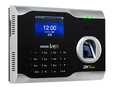 指纹识别考勤机U100 是中控智慧基于自主研发的业界领先的多媒体ZEM500系列开发平台设计生产的中高端指纹机。该产品采用3寸6万5千色高清彩屏,Linux系统的自助式身份识别终端,可以使用U盘下载考勤数据,具有定时定人发送对公对私的短消息功能,在接口上配置了标准的TCP/IP接口支持跨网段、跨网关连接。U系列目前被业界称为最为领先的指纹考勤终端产品,让我们携手进入没有数据线的高速无线传输时代