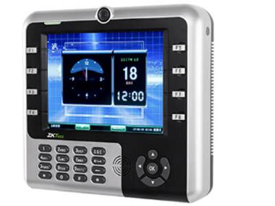 指纹识别考勤机IM2500  是中控智慧基于自主研发,业界领先的多媒体ZEM600开发平台上设计的多媒体射频卡考勤机,标配130万像素高清摄像头,可实现考勤拍照,同时标配后备电池,即使在断电的情况下,也可以保证客户正常使用3小时以上。该款产品采用8寸高清晰TFT数字屏,可显示个性化图形界面。支持各种多媒体播放由于采用ZK6001高速CPU,使其播放更加流畅,色彩更加真实支持考勤系统实时传送,配合考勤软件可实现人事、考勤、倒班等管理、为企业管理再创高效益。
