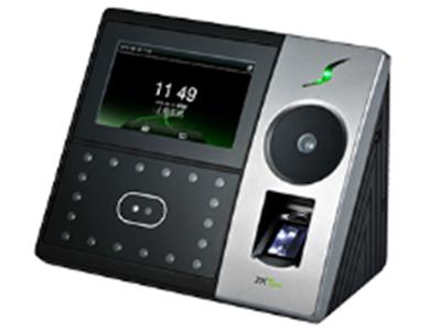 手掌识别考勤机iFace702-p 多模态手掌识别、面部识别和指纹识别的混合生物识别考勤终端,采用了中控智慧ZKFace7.0最新高速面部识别算法,识别准确、快速,集成高分辨率夜视红外和专业彩色双摄像头,基于全新的硬件平台设计,CPU主频达到1.0Ghz,可以处理高达1:20000的1:N速度,支持手掌/手掌+面部/手掌+指纹/面部/指纹+面部/手掌+指纹+面部等多种混合验证方式,其强大的功能、卓越的性能是各类行业用户的最佳选择!