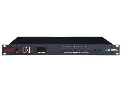 貝塔斯瑞  PX128 電源時序分配器 它可將輸入的主電源分配成八路電源輸出,并可以按時間順序依次接通和關閉各路電源,從而有效降低對系統的沖擊,特別適合于大型音響工程使用。