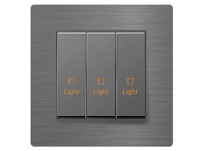 風尚系列三鍵開關控制器   采用全球統一標準ZigBee 2.4G技術,無線自組網式并入智能家居系統,入網簡便;本地、遠程、遙控、場景,多種方式智能控制家中燈光,隨心管控;雙向反饋,通過手機即可隨時隨地控制、查看家中燈光情況,生活更舒心;可定制鐳雕絲印,與同系列其他面板組成聯體面板